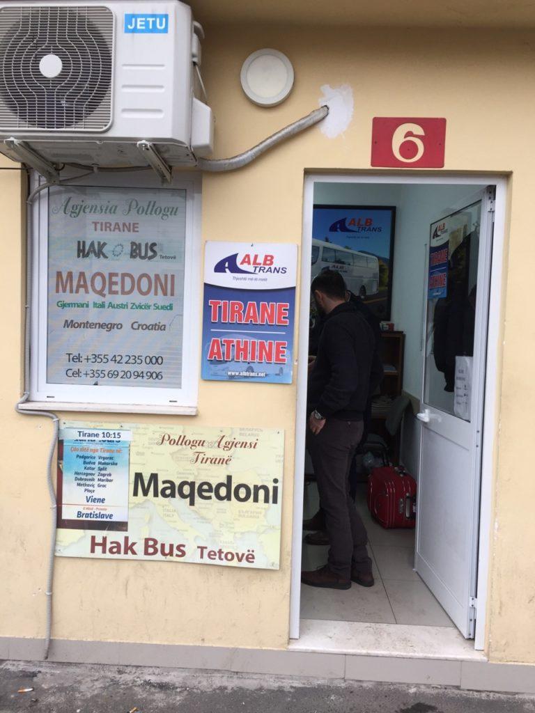 Tirana 巴士總站