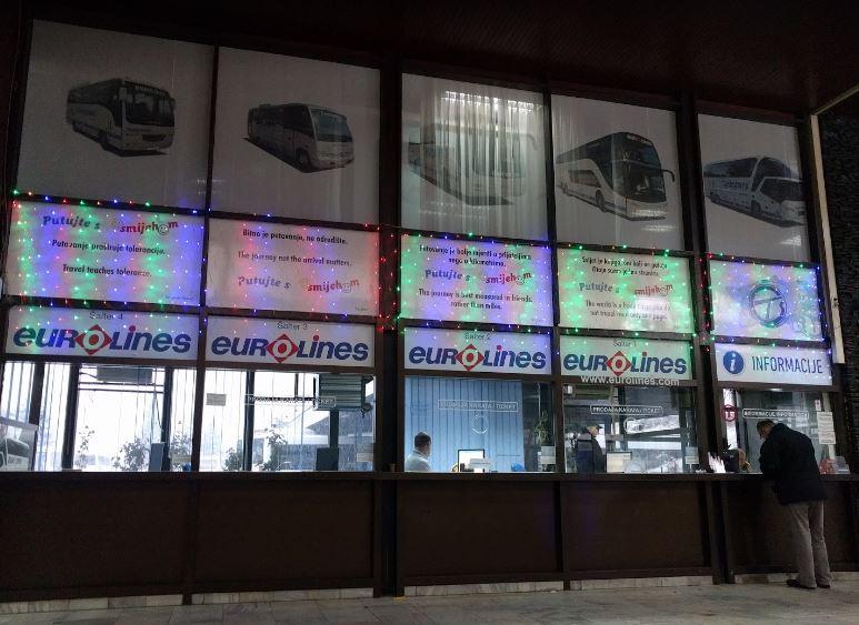 Sarajevo 巴士站售票口