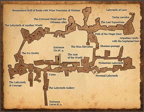 布達佩斯-布達區-地下迷宮地圖