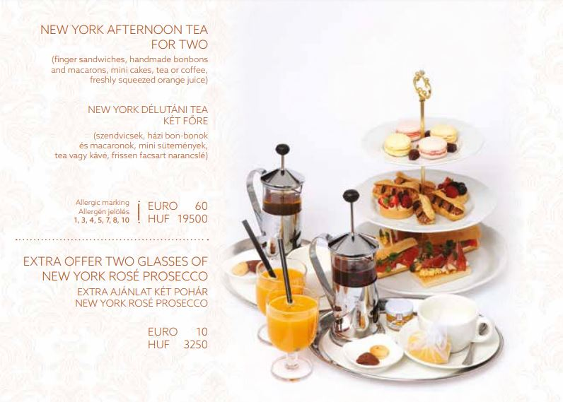 New York Afternoon Tea for TWO