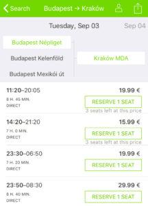 FlixBus Timetable