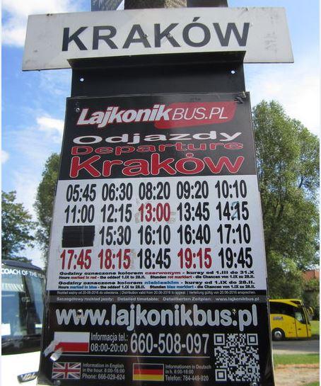 Krakow Timetable