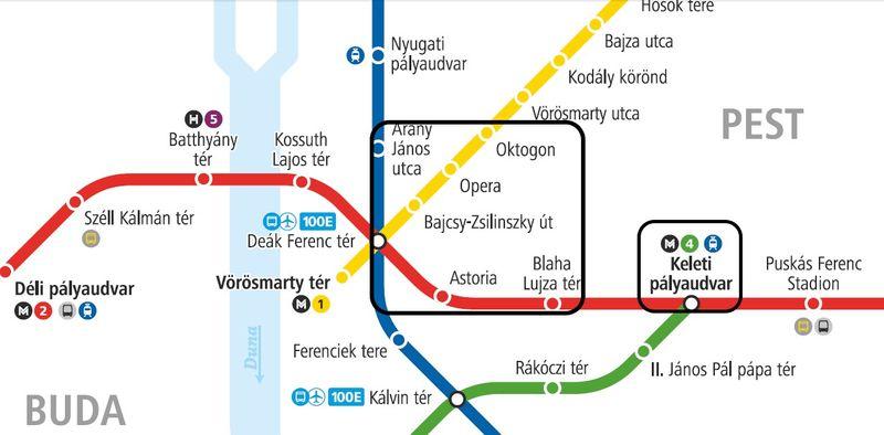 布達佩斯推薦住宿區域圖