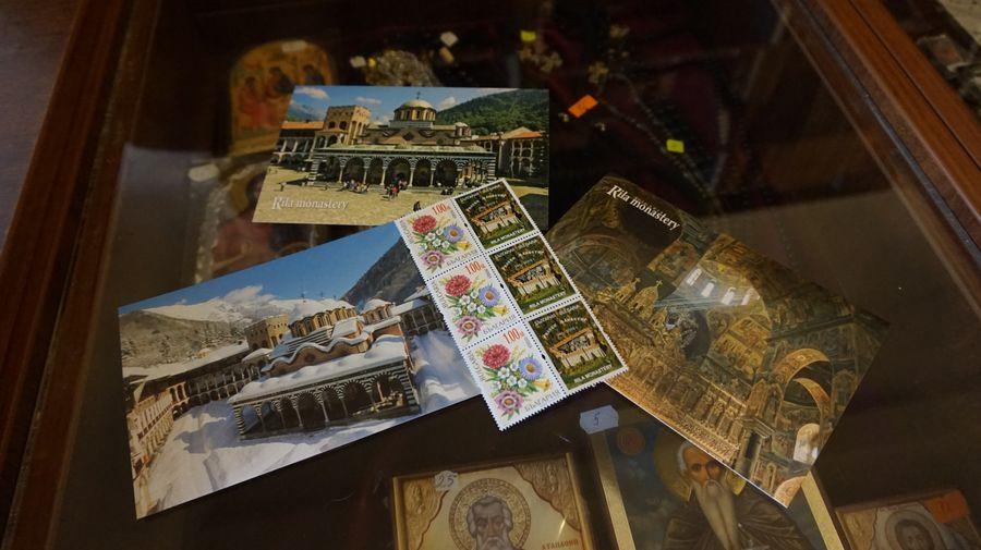 里拉修道院明信片+郵票