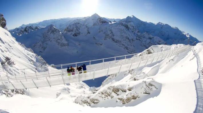 瑞士-雪山纜車