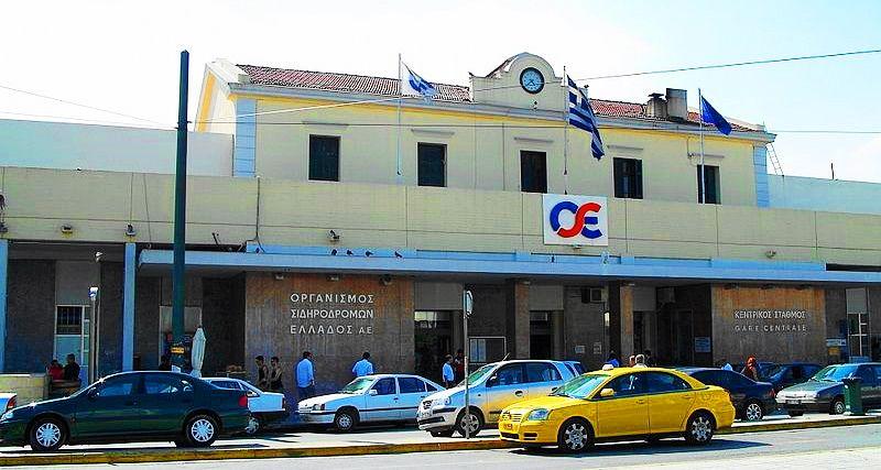 雅典的拉里薩火車站。Larissa railway station of Athens,前往卡蘭巴卡的梅特歐拉Meteora