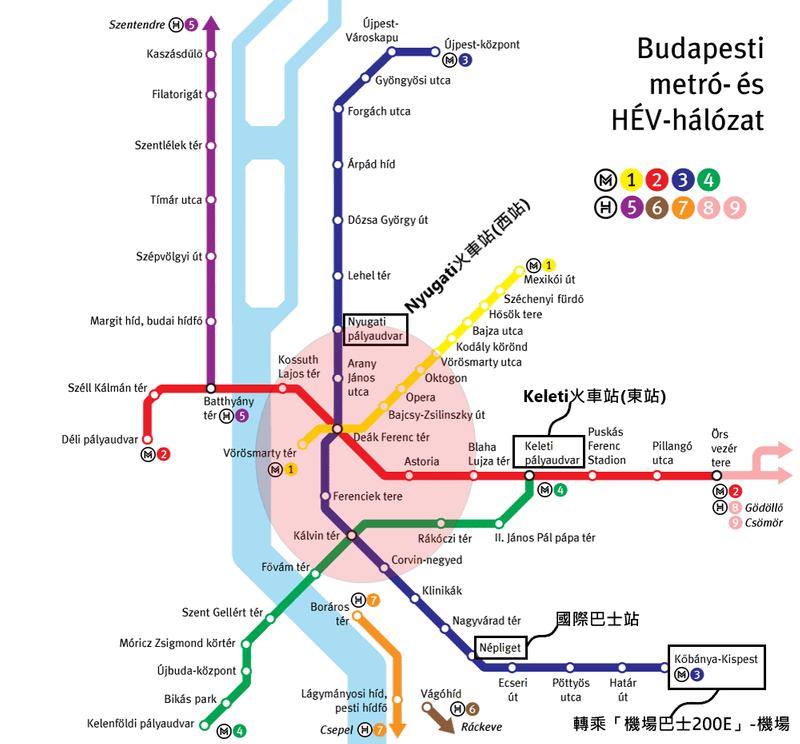 布達佩斯建議住宿區域圖