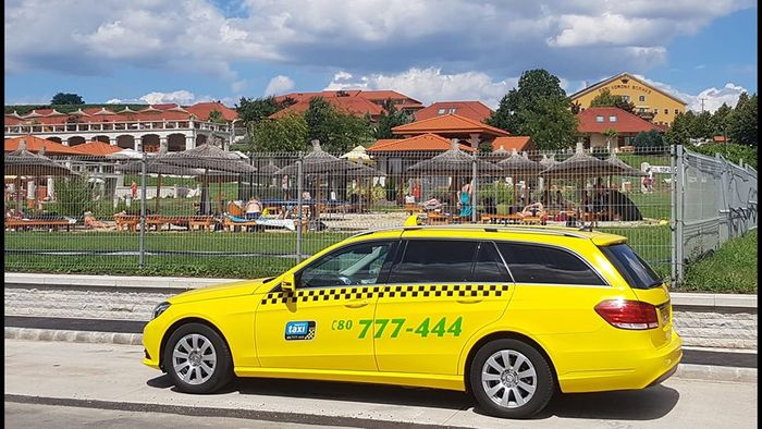 Tourist taxi in Eger ,Hungary