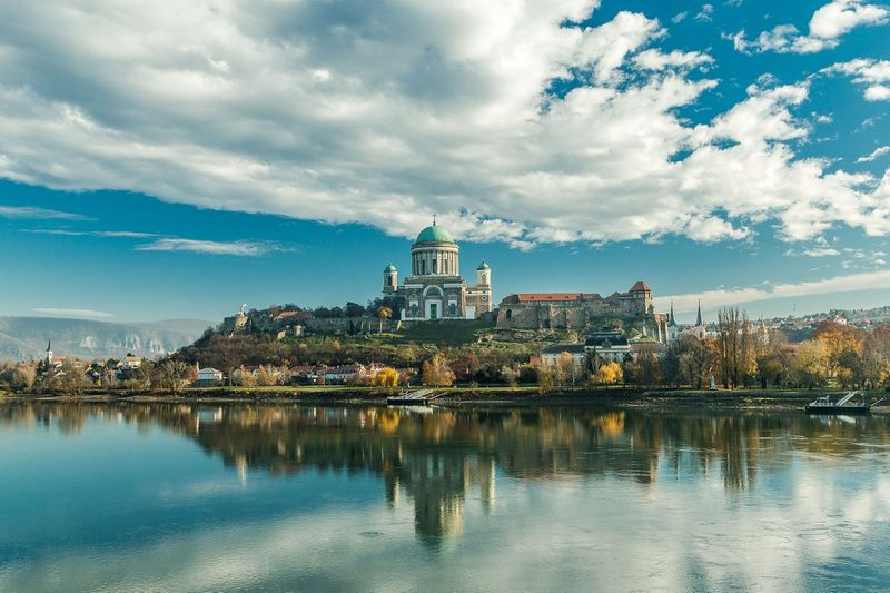 Esztergom Basilica view from Mary Valeria Bridge ,Hungary