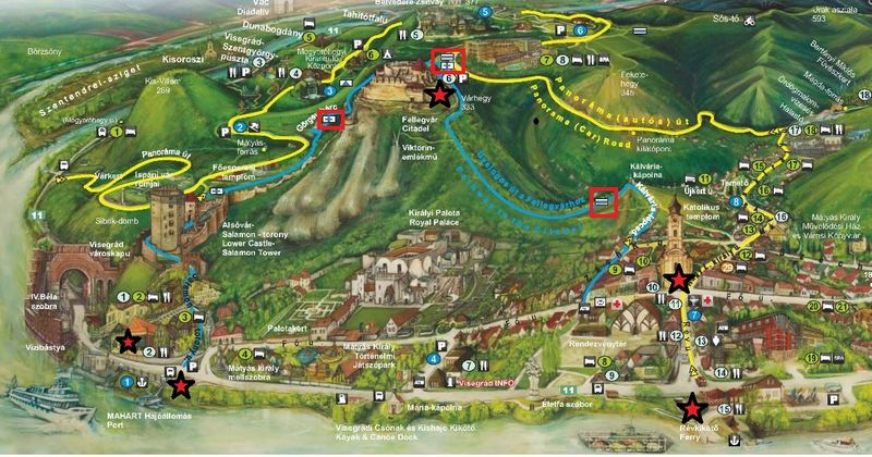 Visegrad 維謝格拉德地形路線圖