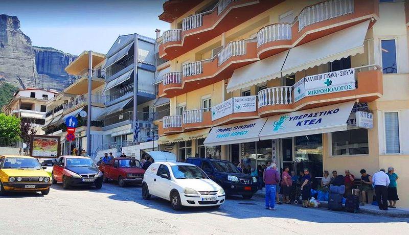 希臘:卡蘭巴卡Kalambaka-當地KTEL巴士(公車)站,可以從這邊往返雅典。