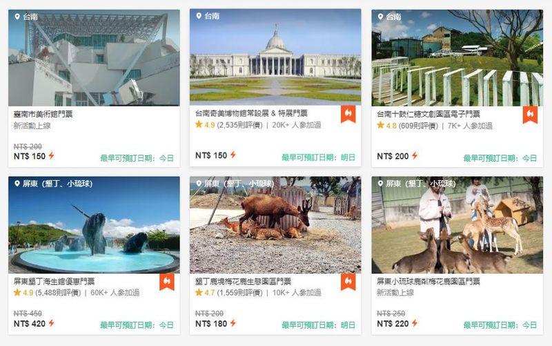 台灣遊樂園景點門票
