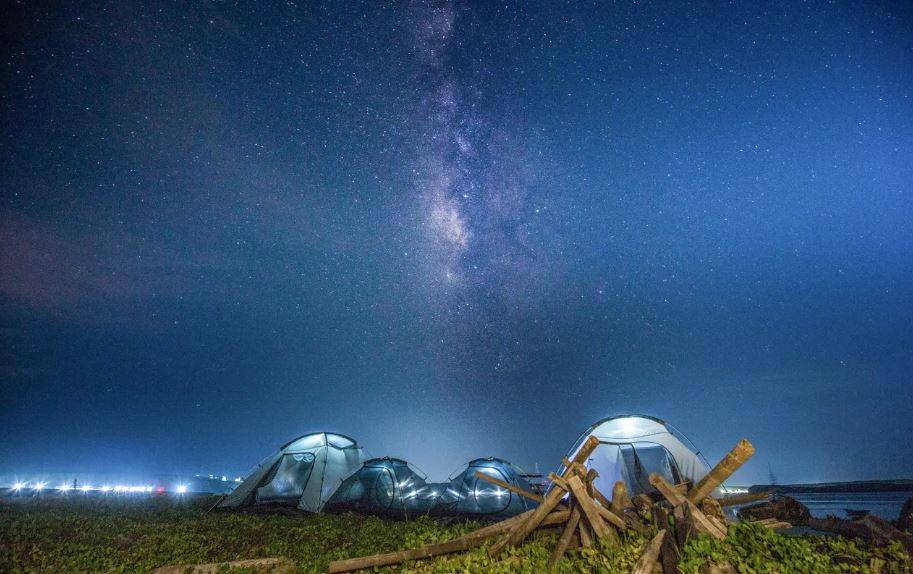 澎湖無人島沙灘露營