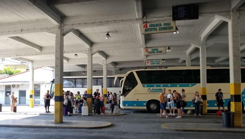 雅典長途巴士站KTEL Liossion Terminal B,可以從這邊搭巴士前往卡蘭巴卡-梅特歐拉Meteroa