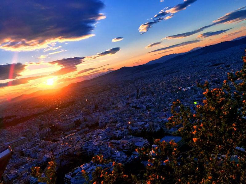 Lykavittos Hill利卡維多斯山丘夕陽日落