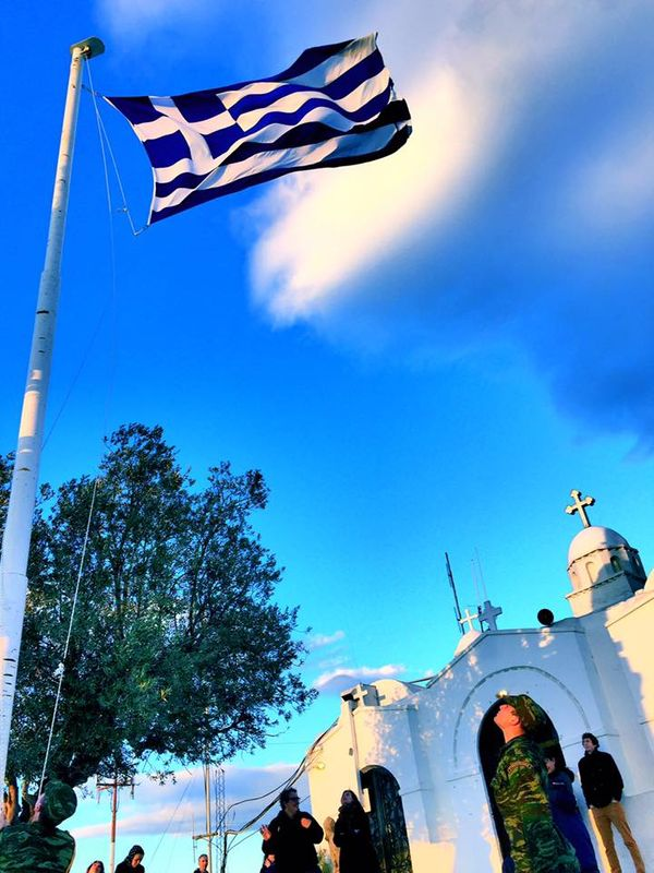 利卡維多斯山丘Lykavittos Hill,日落前的士兵交接。