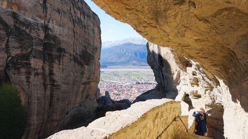 梅特歐拉Meteora修道院:聖三位一體修道院 Holy Trinity Monastery (Agia Triada)。經過小心頭部。