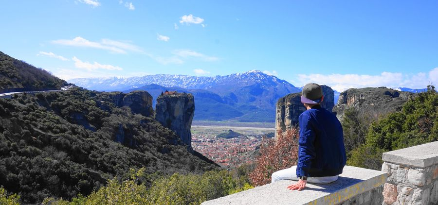 梅特歐拉Meteora修道院:遠方的聖三位一體修道院Holy Trinity Monastery (Agia Triada)