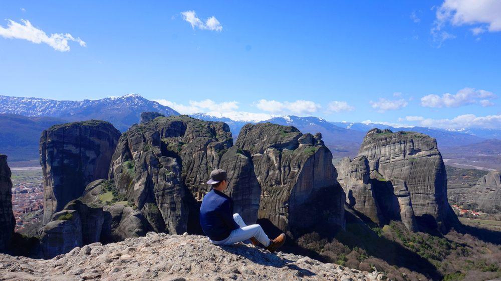 梅特歐拉Meteora最佳觀景點 Observation Deck.景觀遼闊,移動要當心腳下。