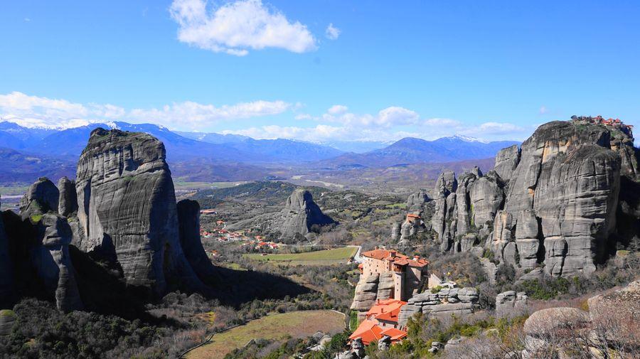 梅特歐拉Meteora修道院:魯莎奴女修道院 Roussanou Monastery.