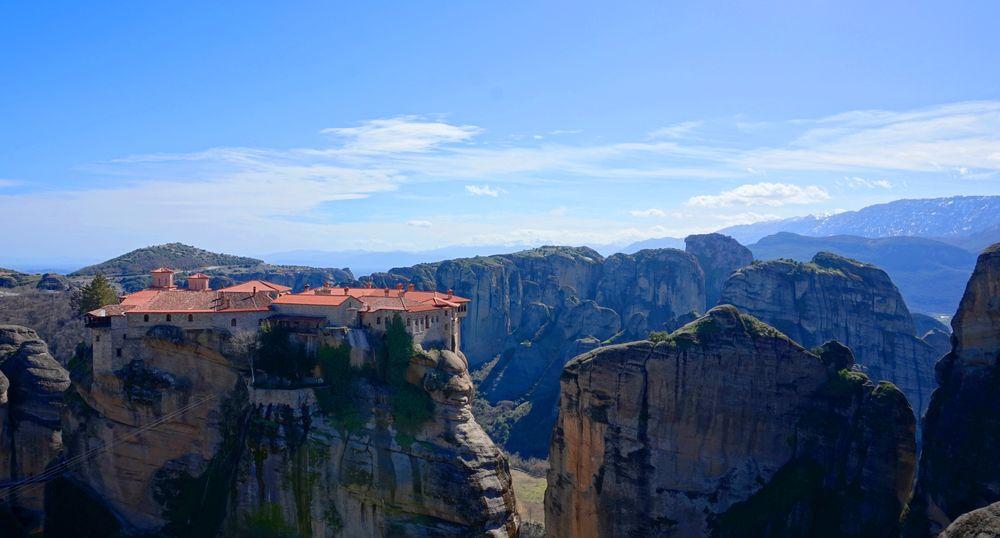 梅特歐拉Meteora修道院:瓦爾拉姆修道院 Varlaam Monastery.歡迎來到第二大修道院。