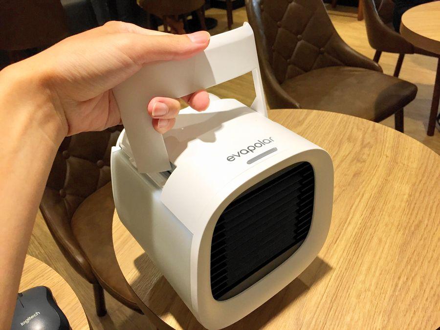 開箱:EvaPolar-EvaChill迷你隨身冷氣機,不到一公斤輕便好帶。