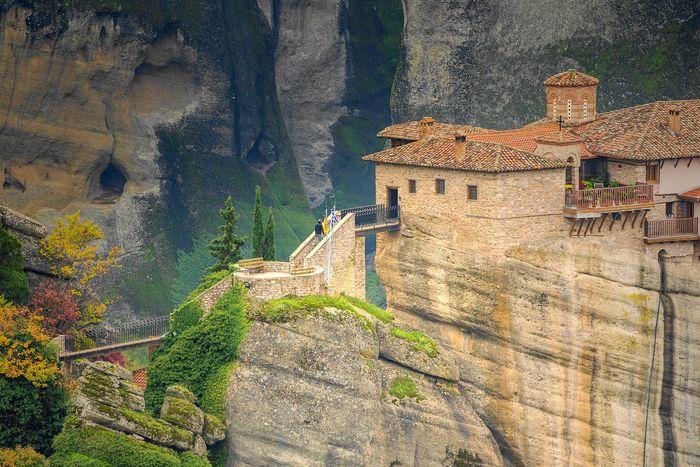 梅特歐拉Meteora修道院:魯莎奴女修道院 Roussanou Monastery