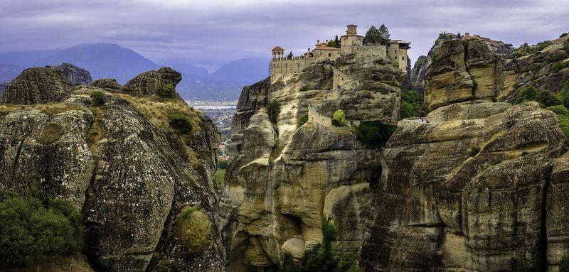 梅特歐拉Meteora修道院:大梅特歐拉道院 Great Meteoron Monastery.最大最古老的修道院,觀光必去。