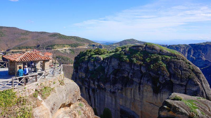 梅特歐拉Meteora-大梅特歐羅修道院頂端的小涼亭。