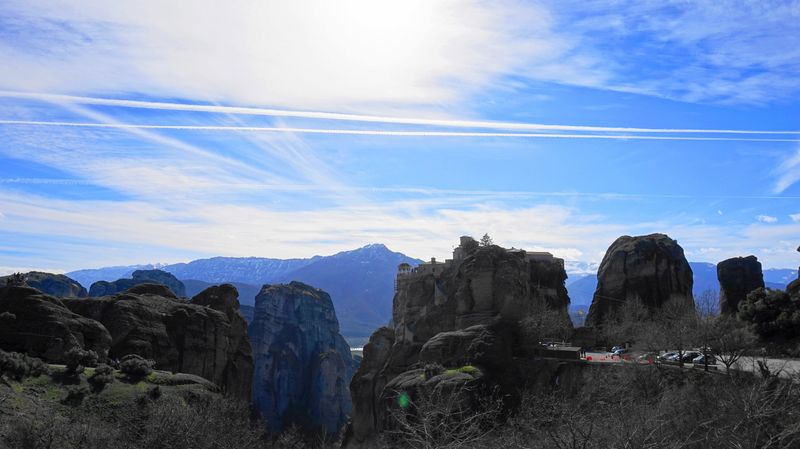梅特歐拉Meteora-從遠處看大梅特歐修道院。