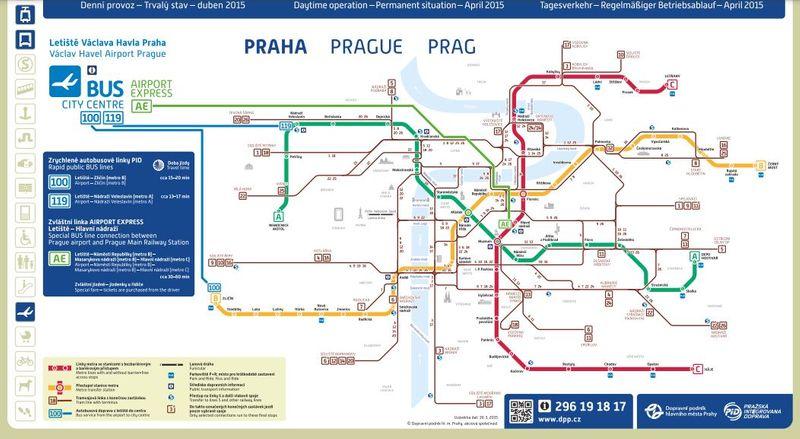 布拉格機場巴士轉乘圖