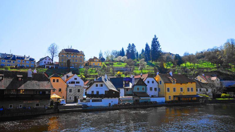 CK小鎮-伏爾塔瓦河 Vltava River與岸邊店家