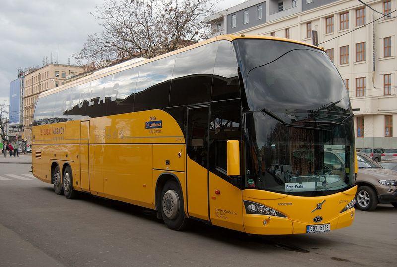 Bus of Student Agency in Prague.布拉格-CK小鎮的巴士