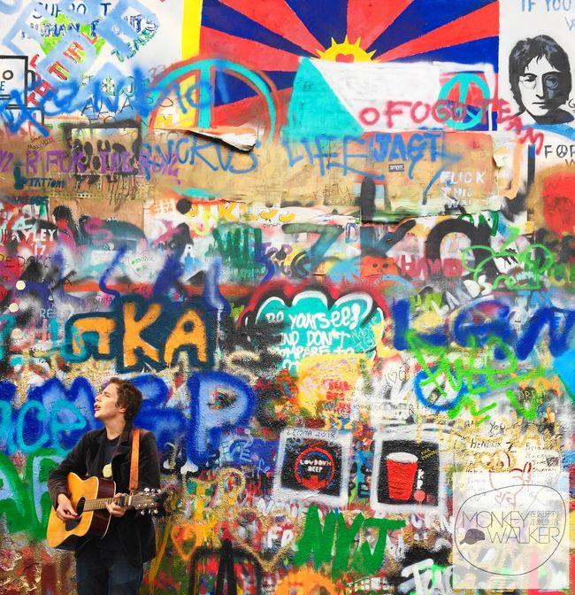 布拉格Prague必去景點-吉他手與約翰藍儂牆