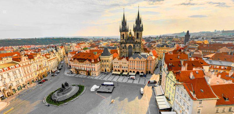 Prague Astronomical Clock 布拉格天文鐘觀景台風景,可以看見舊城廣場。