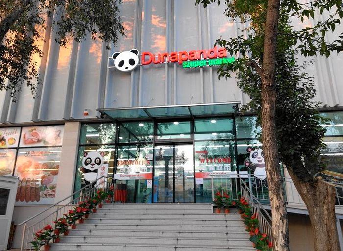 布達佩斯的亞洲超市-熊貓超市位在中國城