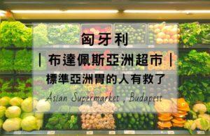 布達佩斯亞洲超市,整理5間詳細超市位置,想念亞洲味道的人就快去吧。