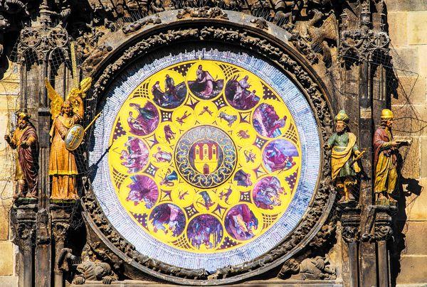 Prague Astronomical Clock天文鐘下半部-日曆星座盤
