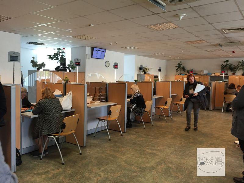 匈打申請醫療卡(TB),布達佩斯的醫療保險局內部。