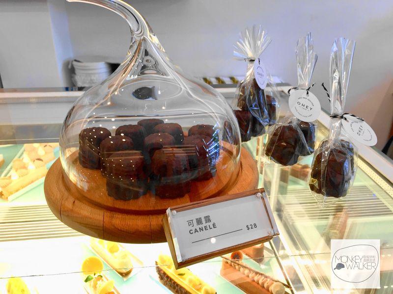 斗六OHEY Cafe慕光咖啡館,好吃的可麗露,不愛甜食的你可以試看看。