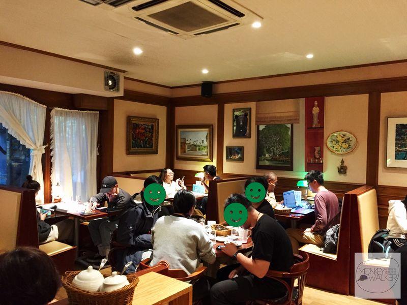 台中中非咖啡館內部空間
