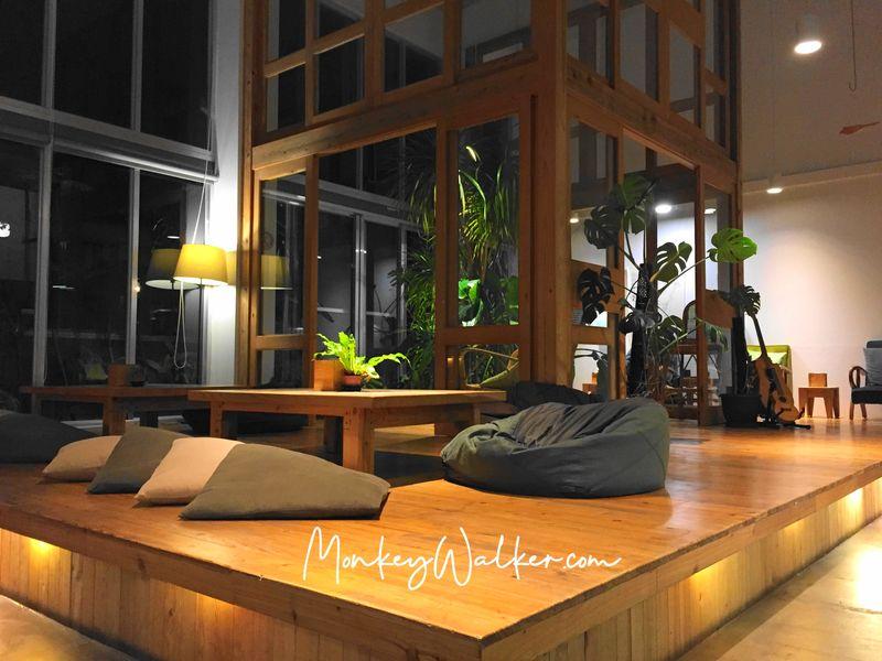 Star Hostel台北車站信星旅店的懶骨頭,讓人坐下便沉溺在裡面。