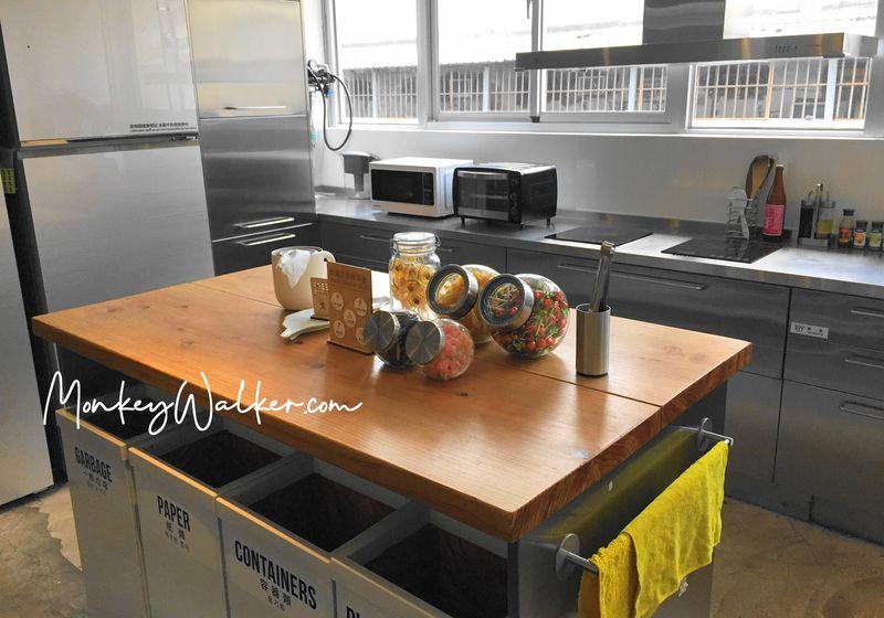 Star Hostel信星旅店台北車站的自助式廚房。