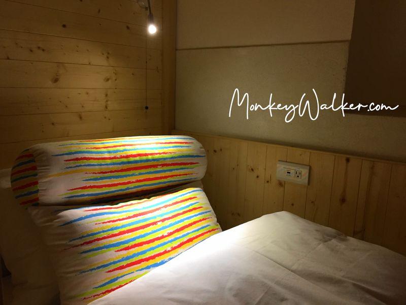 孔廟對面的阿信旅店,旅店自製的2個專屬抱枕,很舒服。