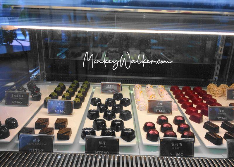 在阿信巧克力農場台南店裡,也有獨特風味的巧克力可以吃。