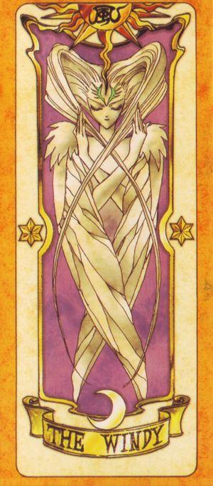受到慕夏新藝術風格影響的日本動漫卡通-「庫洛魔法使」,獨樹一格的庫洛牌(The Windy風卡)。