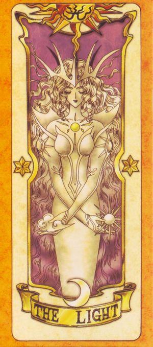 受到慕夏新藝術風格影響的日本動漫卡通-「庫洛魔法使」,獨樹一格的庫洛牌(The Light光明卡)。