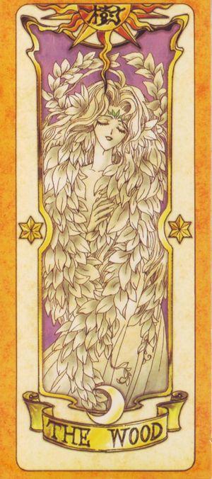 受到慕夏新藝術風格影響的日本動漫卡通-「庫洛魔法使」,獨樹一格的庫洛牌(The Wood樹卡)。