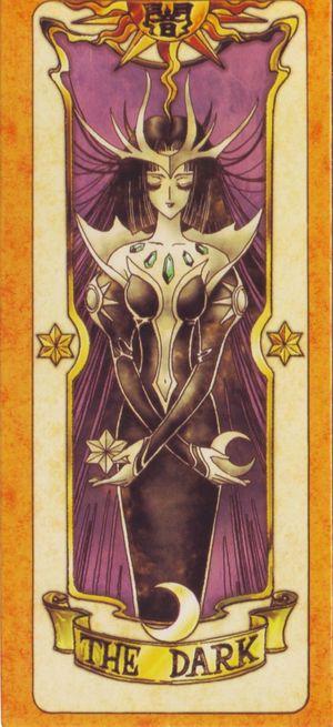 受到慕夏新藝術風格影響的日本動漫卡通-「庫洛魔法使」,獨樹一格的庫洛牌(The Dark黑暗卡)。