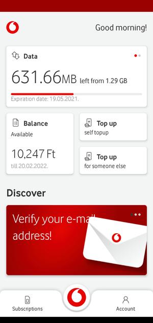 如何在布達佩斯使用Vodafone App儲值(Top up)
